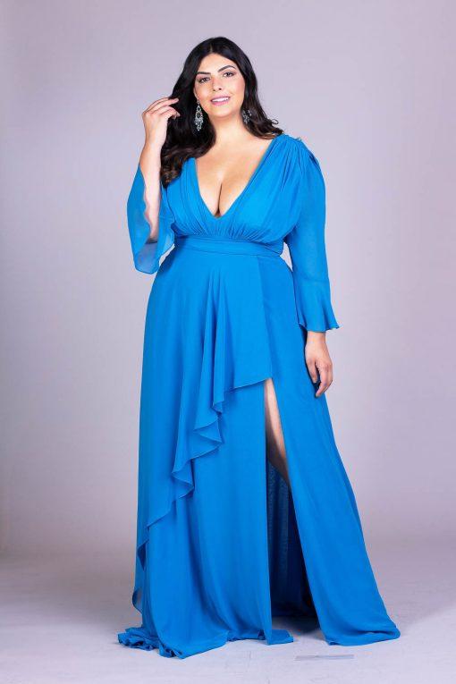 Vestido de festa plus size elegance