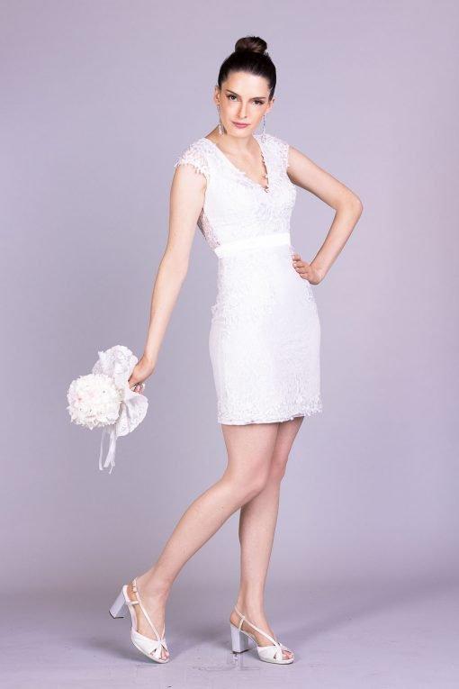 Vestido de noiva casamento civil aline