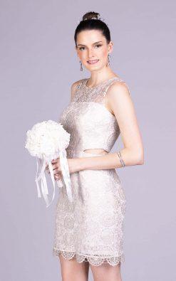 Vestido de noiva casamento civil barcelona