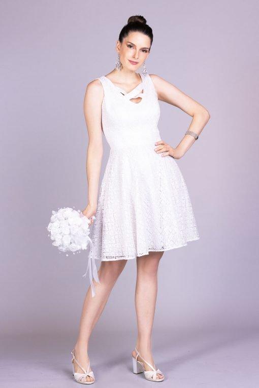Vestido de noiva casamento civil cibele