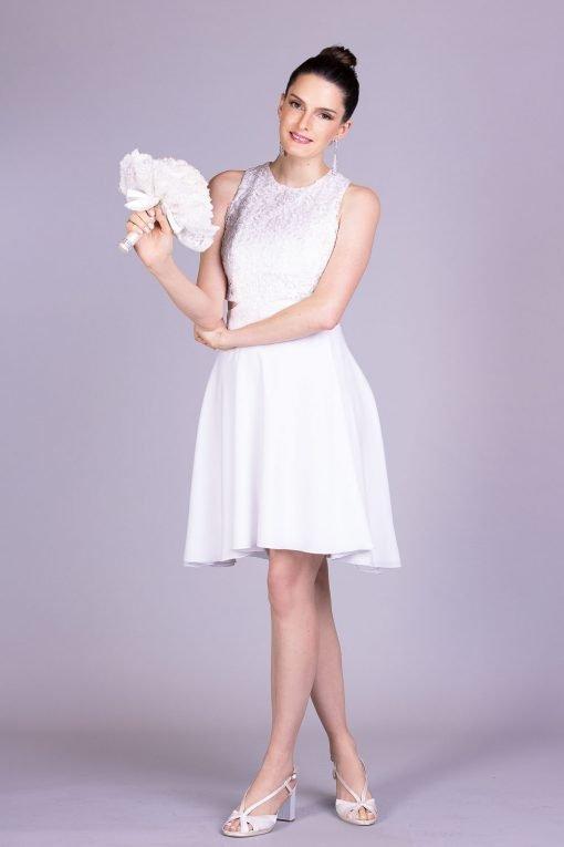 Vestido de noiva casamento civil gigi
