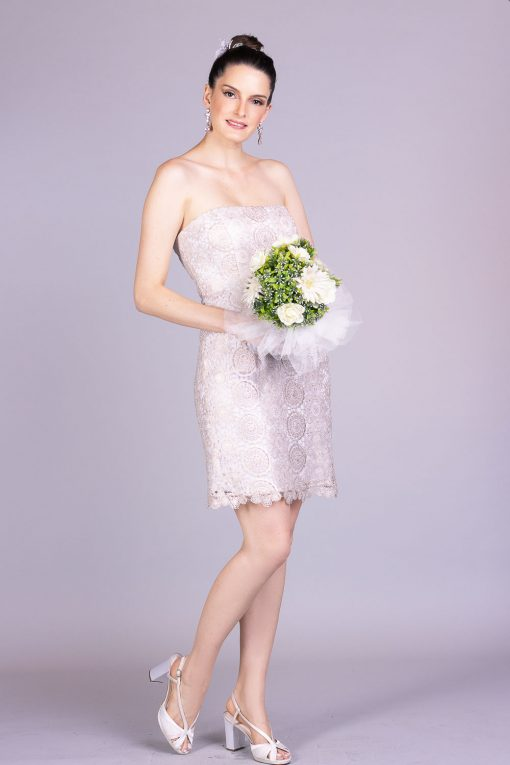 Vestido de noiva casamento civil lala noleto