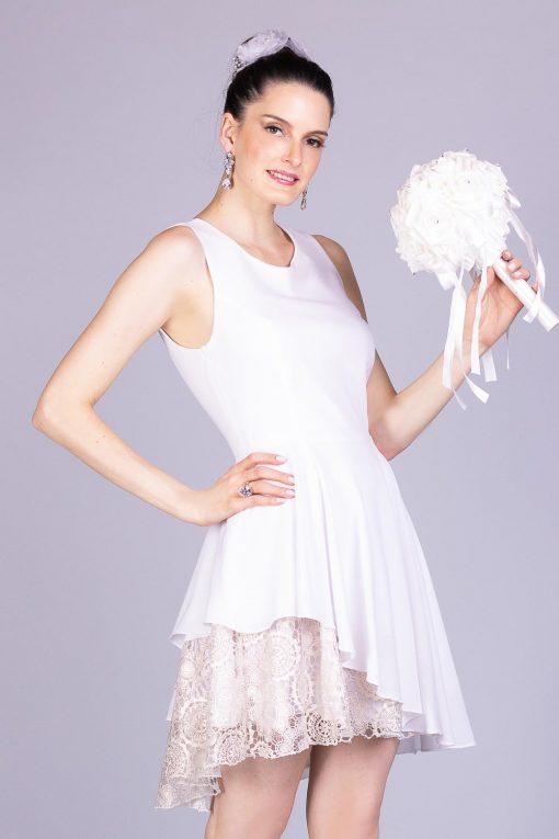 Vestido de noiva casamento civil lari