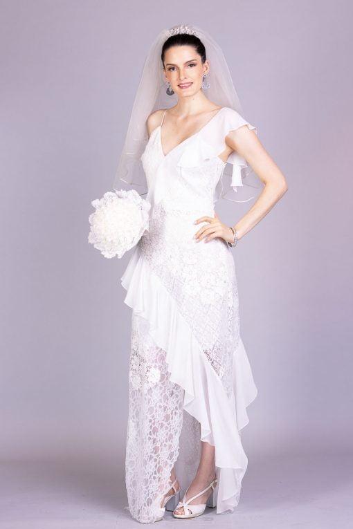 Vestido de noiva casamento civil larissa