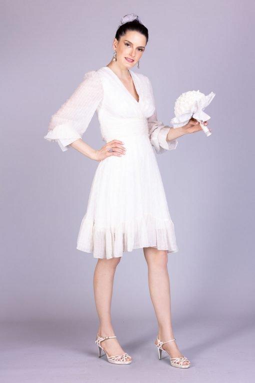 Vestido de noiva casamento civil nina secrets