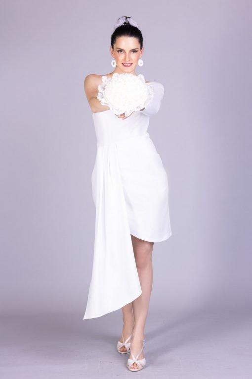 Vestido de noiva casamento civil pugliese