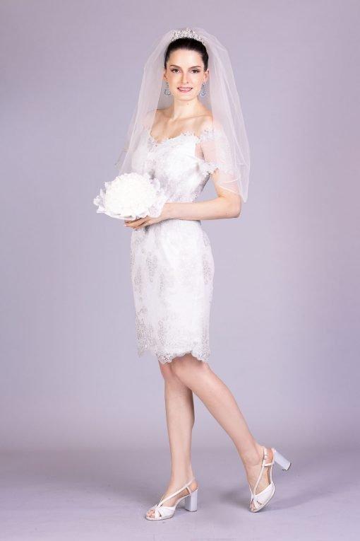 Vestido de noiva casamento civil shantal