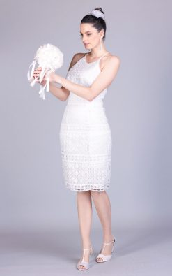 vestido de noiva curto janet