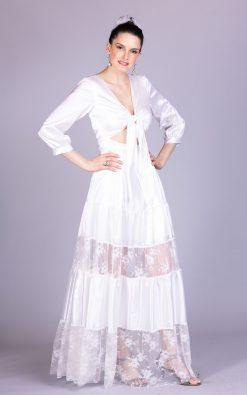 Vestido de noiva luau