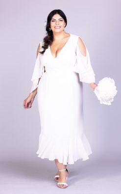 Vestido de noiva plus size candy girl