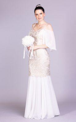 Vestido de noiva versatil taty