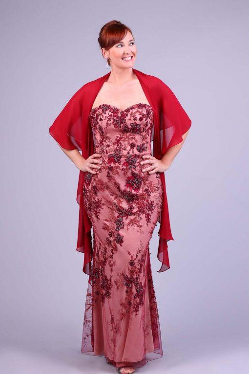 Vestido de festa marsala gloria calfath