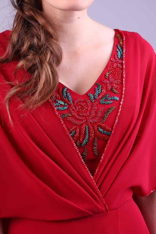 Vestido de festa marsala Sonia Scapelli