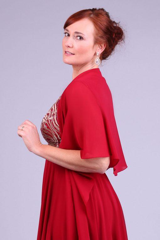 Vestido de festa marsala yasmin