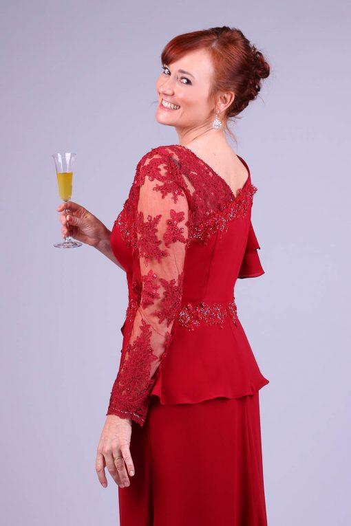 Vestido de festa marsala pilar rossi