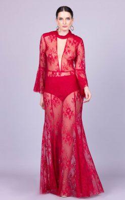 Vestido de festa scarlet stone