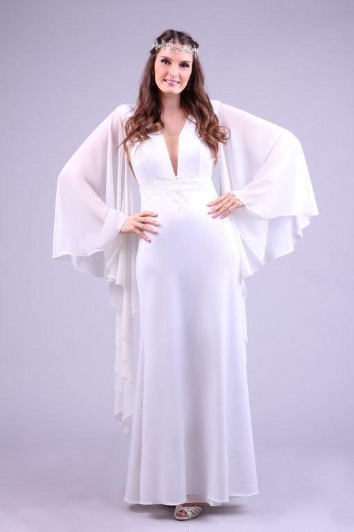 Vestido de noiva longo bird
