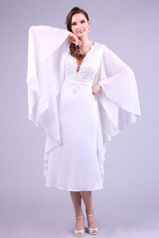 Vestido de noiva midi fly