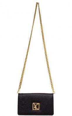 Bolsa carteira de couro lari black gold