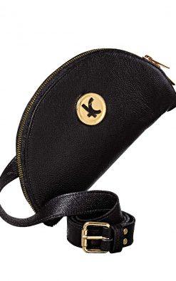 Bolsa carteira de couro smart 3 em 1 black gold