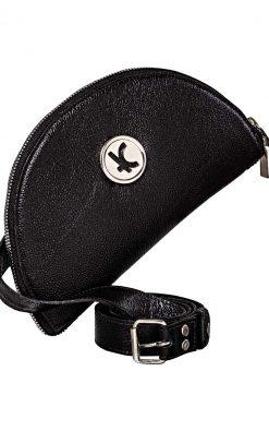 Bolsa carteira de couro smart black niquel